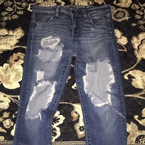 AEO Ripped Jeans Size 8L